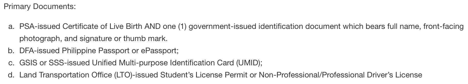 National ID Registration Philippines