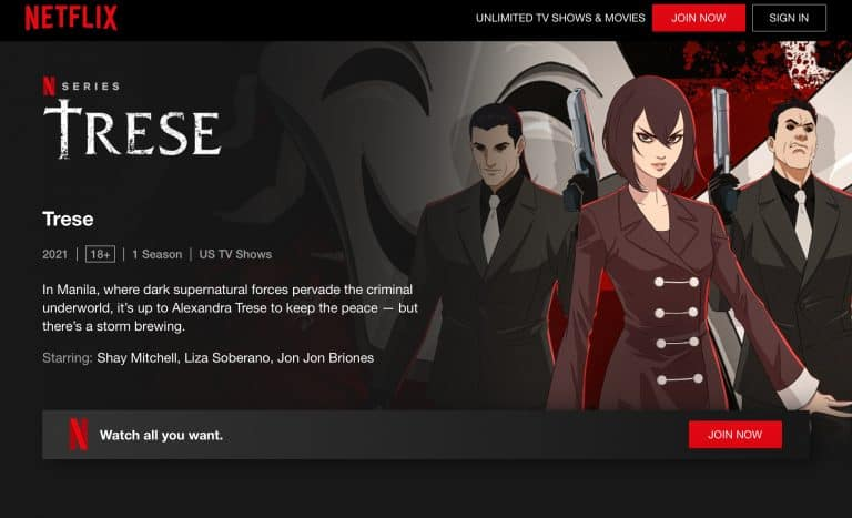 TRESE IS FINALLY OUT ON NETFLIX!
